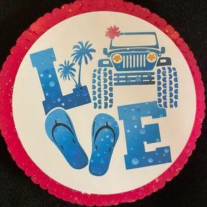 Jeep Love car freshie